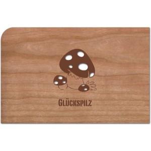 Holzpost® Grußkarte Glückspilz