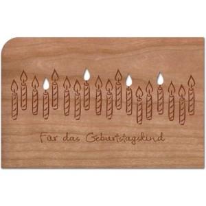 Holzpost® Grußkarte Kerzen für das Geburtstagskind