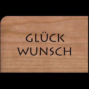 Holzpost® Grußkarte Buchstaben Glückwunsch