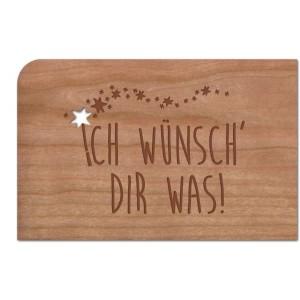 Holzpost® Grußkarte Ich wünsch Dir was!