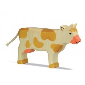 HOLZTIGER Kuh stehend, braun
