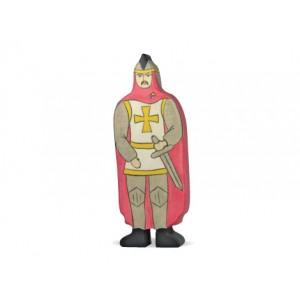 HOLZTIGER Ritter mit rotem Mantel