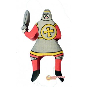 HOLZTIGER Roter Ritter reitend