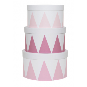 JaBaDaBaDo Aufbewahrungsbox rund rosa (3er Set)