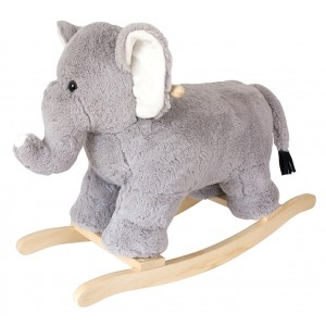 JaBaDaBaDo Schaukelelfant aus Plüschr - Holzspielzeug Profi