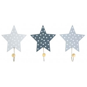 JaBaDaBaDo Wandhaken Sterne grau (3er Set)