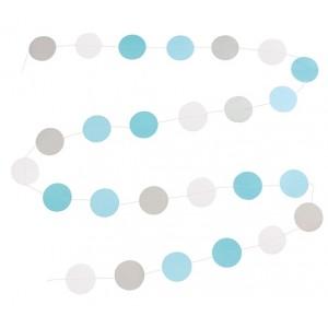 JaBaDaBaDo Papier-Girlande Dots blau
