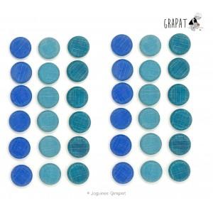 Grapat Mandala Kleine blaue Scheiben  - Holzspielzeug Profi