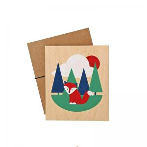 Lubulona Holzbild Illustration Fuchs