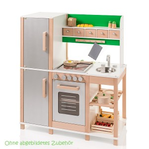 SUN Kinderküche Buche silber-grün