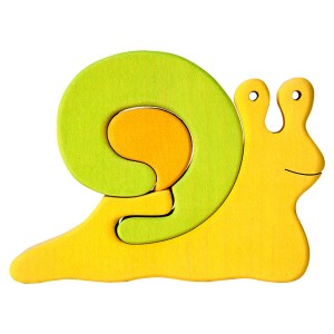 Tedefamily Puzzle Schnecke grün- Holzspielzeug Profi