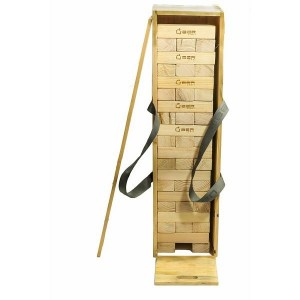 Übergames Riesenwackelturm Kiefer in Holzkiste, 90 cm