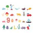 ABC Lernfiguren von GRIMM´S: geordnet - Holzspielzeug Profi