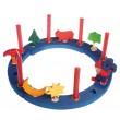 GRIMM´S Baumkerzen in rot marmoriert (20 Stück): Dekobeispiel - Holzspielzeug Profi