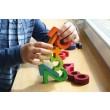 GRIMM´S Bauset Zahlen mit Sanduhr: hier wird gebaut - Holzspielzeug Profi