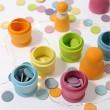 GRIMM´S Russische Püppchen pastell: kombiniert mit Konfettitalern - Holzspielzeug Profi