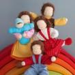 GRIMM´S Biegepüppchen Familie Erle - Holzspielzeug Profi
