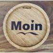 """Holzpost® Untersetzer Bierdeckel """"Moin Herz"""" - Holzspielzeug Profi"""