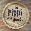 """Holzpost® Untersetzer Bierdeckel """"Sei Pippi nicht Annika"""" - Holzspielzeug Profi"""