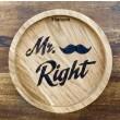 """Holzpost® Untersetzer Bierdeckel """"Mr. Right"""" - Holzspielzeug Profi"""