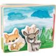 Holzbilderbuch Waldlandschaft von small foot: Rückseite mit Klett - Holzspielzeug Profi