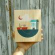Lubulona Holzbild Illustration Boot: Größe - Holzspielzeug Profi