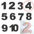 Rasmussons Geburtstagszahl 4 in rosa (Übersicht) - Holzspielzeug Profi