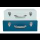 JaBaDaBaDo Aufbewahrungskoffer blau (2er Set)